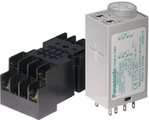 Zeitrelais Multifunktional 230 V/AC 1 St. Panasonic S1DXMM2C10HAC240V-S Zeitbereich: 0.05 min - 10 h 2 Wechsler