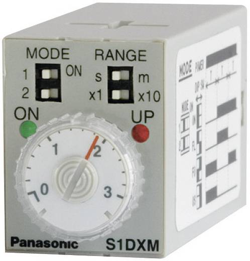 Zeitrelais Multifunktional 230 V/AC 1 St. Panasonic S1DXMM4C10HAC240V-S Zeitbereich: 0.05 min - 10 h 4 Wechsler