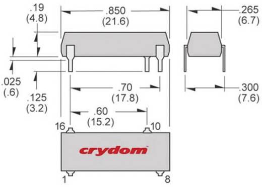 Halbleiterrelais 1 St. Crydom SDV2415R Last-Strom (max.): 1.5 A Schaltspannung (max.): 280 V/AC Sofortschaltend