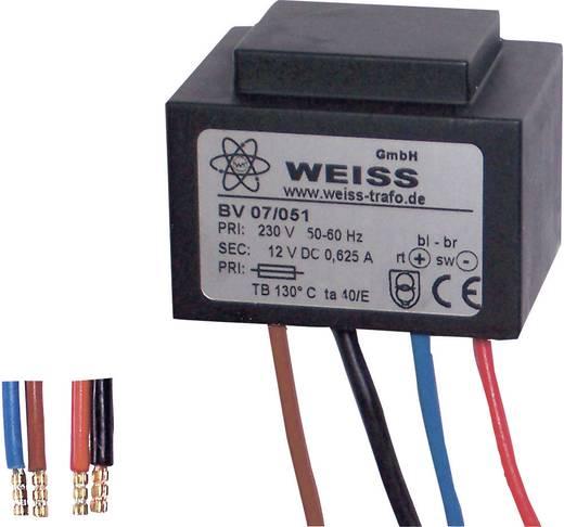 Weiss Elektrotechnik 07/051 Kompaktnetzteil Transformator 1 x 230 V 1 x 12 V/DC 7.50 W 625 mA