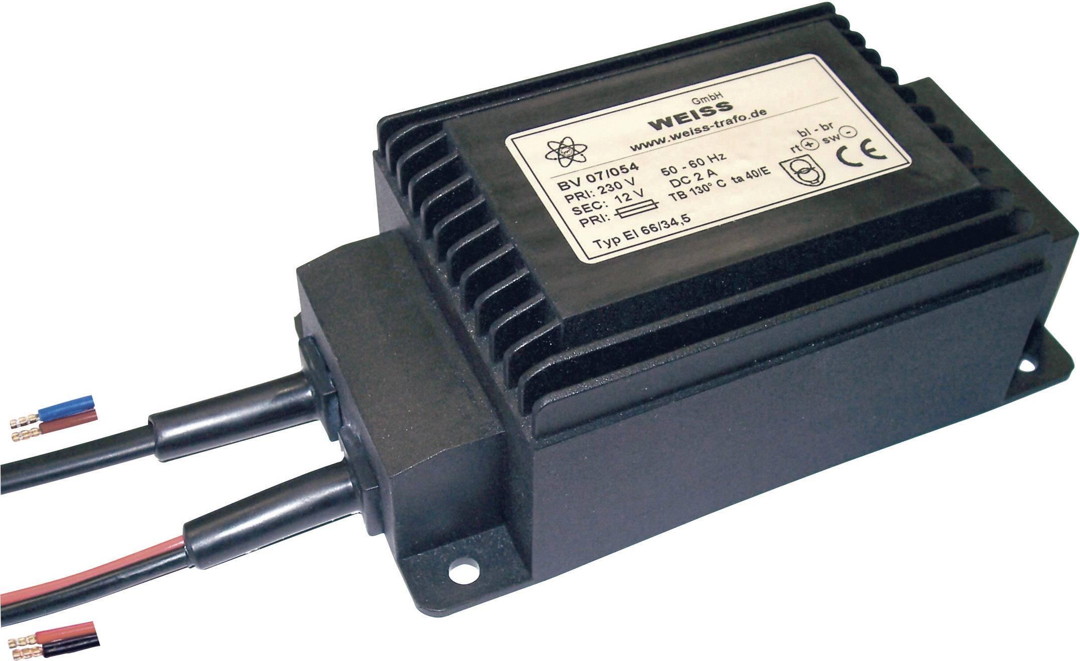 Weiss Elektrotechnik 07//058 Kompaktnetzteil Transformator 1 x 230 V 1 x 12 V//DC