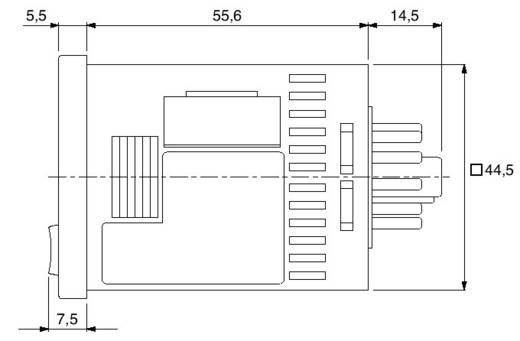 Zeitrelais Multifunktional 24 V/DC, 24 V/AC 1 St. Panasonic LT4HW24ACJ Zeitbereich: 0.01 s - 9999 h 1 Wechsler