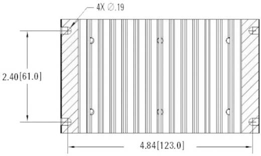 Kühlkörper 1 K/W (L x B x H) 76.2 x 132.1 x 60.5 mm Crydom HS103DR