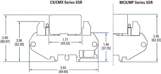 Halbleiterrelais 1 St. Crydom DRA1-MCXE380D5 Last-Strom (max.): 5 A Schaltspannung (max.): 530 V/AC Nullspannungsschalte