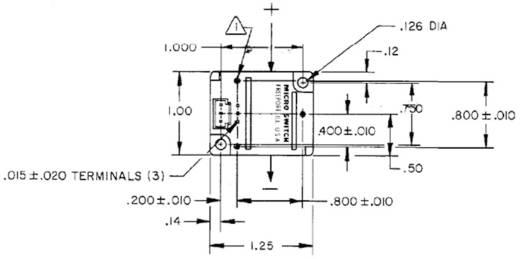 Stromsensor Honeywell CSDA1BC 6 - 16 V/DC Print