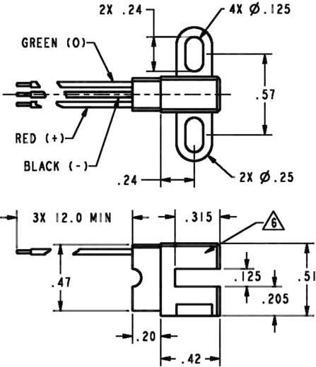 Hallsensor Honeywell SR17C-J6 3.8 - 30 V/DC Kabel, offenes Ende