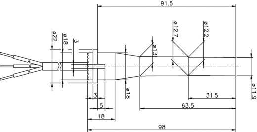 Reed-Kontakt 1 Wechsler 250 V/DC, 250 V/AC 1 A 60 VA Secatec MKR13XUAK