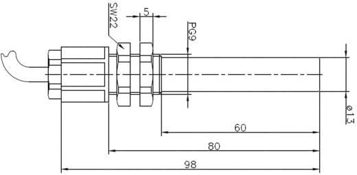 Reed-Kontakt 1 Wechsler 250 V/DC, 250 V/AC 0.8 A 80 VA Secatec MKR13ARAK