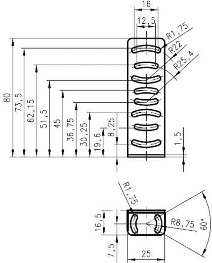 Befestigungssystem Leuze Electronic Befestigungswinkel für Baureihe 25B