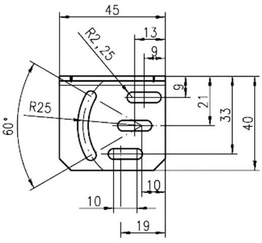 Befestigungssystem Leuze Electronic Befestigungswinkel für Baureihe 46B