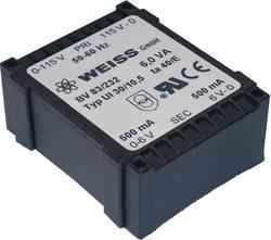 Transformateur pour circuits imprimés Weiss Elektrotechnik 83/237 1 x 230 V 2 x 18 V/AC 6 VA 167 mA 1 pc(s)