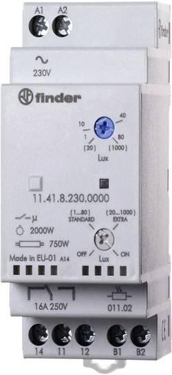 Image of Dämmerungsschalter 1 St. Finder 11.41.8.230.0000 Betriebsspannung:230 V/AC Empfindlichkeit Licht: 1, 30 - 80, 1000 lx,