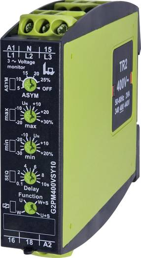 Überwachungsrelais 24 - 400 V/AC 1 Wechsler 1 St. tele G2PM400VSY10 3-Phasen, Spannung