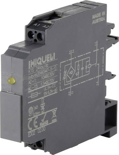Koppelrelais 1 St. 24 V/DC, 24 V/AC 10 A 1 Schließer Hiquel K1S 24Vac/dc