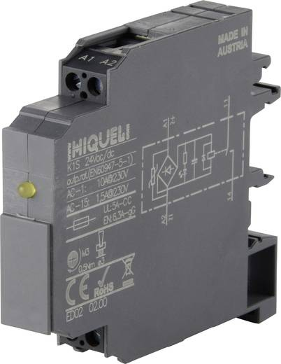 Koppelrelais 1 St. Hiquel K1S 24Vac/dc Schaltspannung (max.): 24 V/DC, 250 V/AC