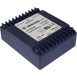 Plochý transformátor Weiss UI 39, 230 V/2x 9 V, 2x 778 mA, 14 VA