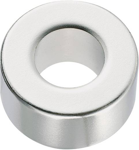 Permanent-Magnet Ring N35 1.24 T Grenztemperatur (max.): 80 °C Conrad Components 506105