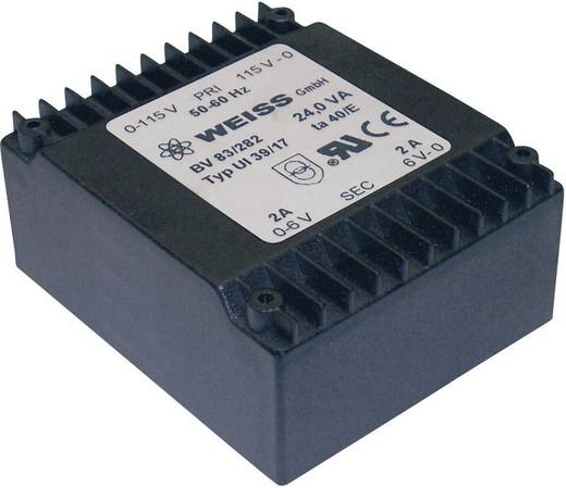 Printtransformator 2 x 115 V 2 x 9 V/AC 24 VA 1333 mA 83/284 Weiss Elektrotechnik
