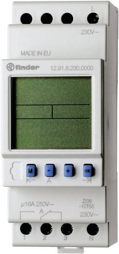 Zeitschaltuhr für Hutschiene Betriebsspannung: 230 V/AC Finder 12.91.8.230.0000 1 Wechsler 16 A 250 V/AC Tagesprogramm