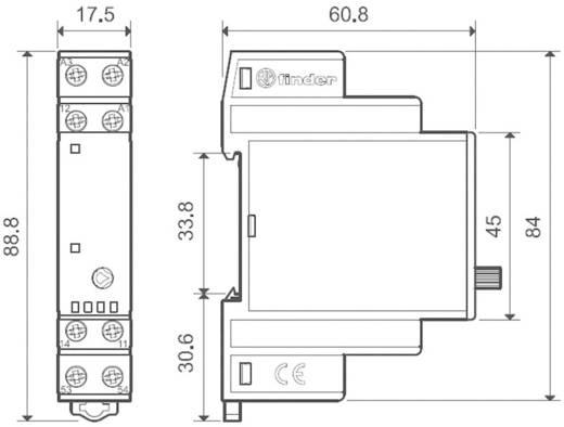 Industrierelais 1 St. Finder 19.41.0.024.0000 Nennspannung: 24 V/DC, 24 V/AC Schaltstrom (max.): 5 A 1 Wechsler