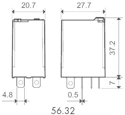 Steckrelais 230 V/AC 12 A 2 Wechsler Finder 56.32.8.230.0040 1 St.