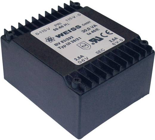 Printtransformator 2 x 115 V 2 x 12 V/AC 30 VA 1250 mA 83/295 Weiss Elektrotechnik
