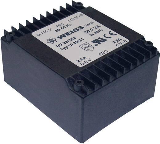 Printtransformator 2 x 115 V 2 x 6 V/AC 30 VA 2500 mA 83/292 Weiss Elektrotechnik