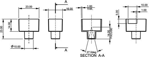 PIR-Bewegungssensor-Modul 1 St. A27/360 5 V/DC (L x B x H) 23 x 23 x 16 mm