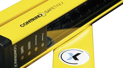 Sicherheitslichtvorhang Fingerschutz Contrinex YBB-14S4-0500-G012 24 V/DC Sender Schutzfeldhöhe 529 mm Anzahl Strahlen: 65 Reichweite Max. 3.5 m