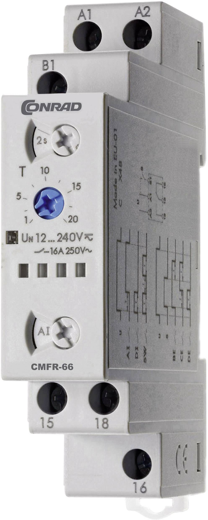 Zeitbereich: 0.1s ENTES MCB-9 Zeitrelais Multifunktional 24 V//DC 30h 1 We 230 V//AC 1 St 24 V//AC