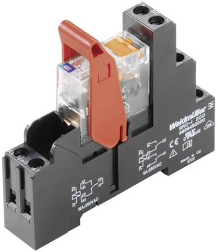 Relaisbaustein 1 St. Weidmüller RCIKIT 24VDC 2CO LD/PB Nennspannung: 24 V/AC Schaltstrom (max.): 8 A 2 Wechsler