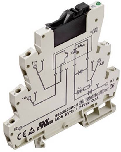 Optokopplerrelais 1 St. Weidmüller MOS 24Vdc / 24Vdc 0,1A Schaltspannung (max.): 48 V/DC