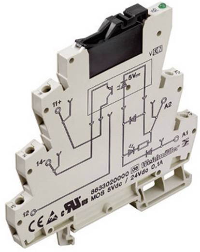 Optokopplerrelais 1 St. Weidmüller MOZ 24Vdc/ 230VAC 1A Schaltspannung (max.): 250 V/AC