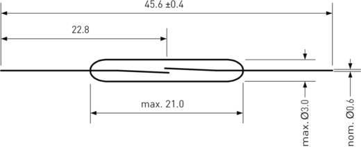 Reed-Kontakt 1 Schließer 180 V/DC, 130 V/AC 1 A 10 W PIC PMC-2003