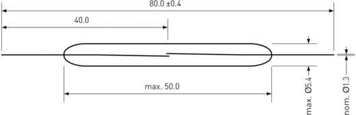 Reed-Kontakt 1 Schließer 250 V/DC, 250 V/AC 5 A 250 W PIC PMC-5002