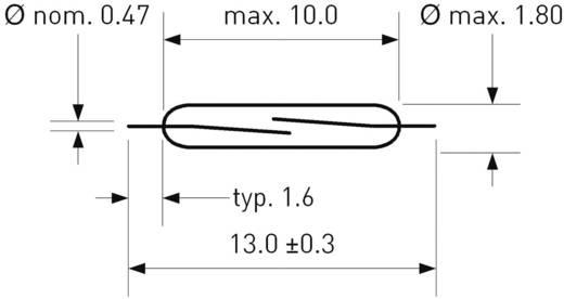 SMD-Reed-Kontakt 1 Schließer 180 V/DC, 130 V/AC 0.7 A 10 W Glaskolbenlänge:10 mm PIC
