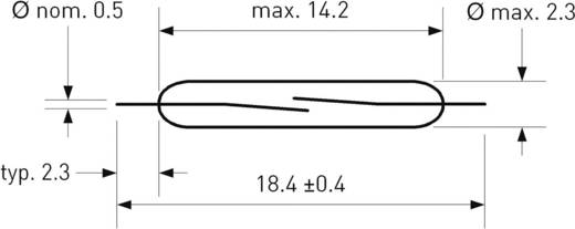SMD-Reed-Kontakt 1 Schließer 200 V/DC, 140 V/AC 1 A 10 W Glaskolbenlänge:14.2 mm PIC