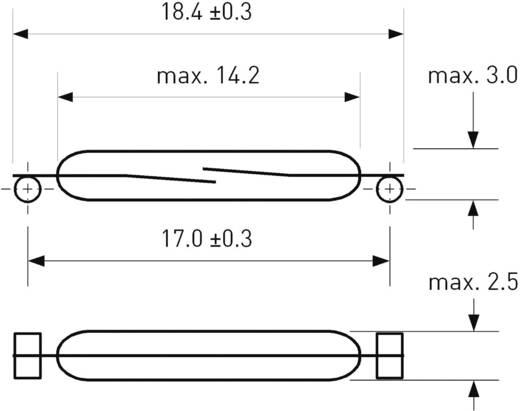 SMD-Reed-Kontakt 1 Schließer 200 V/DC, 140 V/AC 1 A 10 W PIC PMC-1401TS