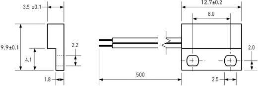 Reed-Kontakt 1 Schließer 150 V/DC, 120 V/AC 0.5 A 10 W PIC MS-313-3