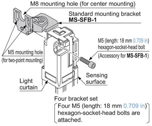 Montagewinkel 1 Pckg. Panasonic MSSFB1 Passend für Sensoren: Panasonic Serie SF4B
