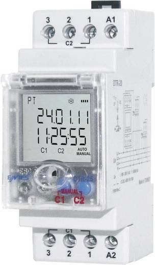 Zeitschaltuhr für Hutschiene Betriebsspannung: 230 V/AC ENTES DTR-20 2 Wechsler 16 A 250 V/AC Astronomisch