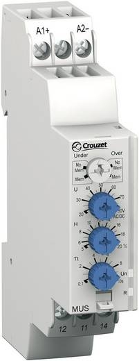 Überwachungsrelais 48, 48 - 24, 24 V/DC, V/AC 1 Wechsler 1 St. Crouzet MUS80 Überspannung, Unterspannung
