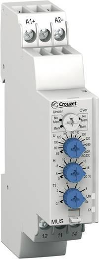 Überwachungsrelais 48, 48 - 24, 24 V/DC, V/AC 1 Wechsler 1 St. Crouzet MUS260 Überspannung, Unterspannung
