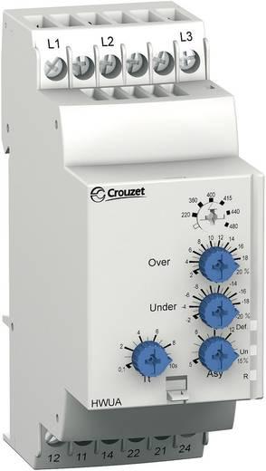 Überwachungsrelais 208 - 480 V/AC 2 Wechsler 1 St. Crouzet HWUA Drehstromnetz, Phasenüberwachung, Phasenasymmetrie, Über