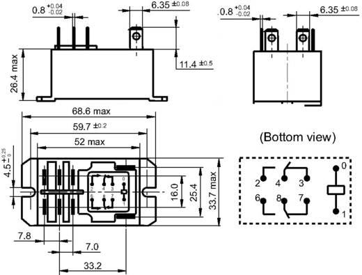 Steckrelais 240 V/AC 30 A 2 Wechsler Hongfa HF92F-240A5-2C21S 1 St.