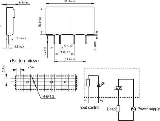 Halbleiterrelais 1 St. Hongfa HFS41/D-380A5Z-NG Last-Strom (max.): 5 A Schaltspannung (max.): 440 V/AC Nullspannungsscha