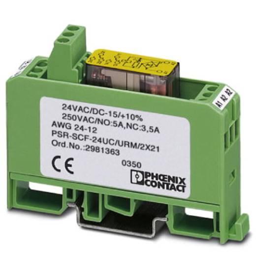 Sicherheitsrelais 10 St. PSR-SCF-120UC/URM/2X21 Phoenix Contact Betriebsspannung: 120 V/DC, 120 V/AC 2 Wechsler (B x H x