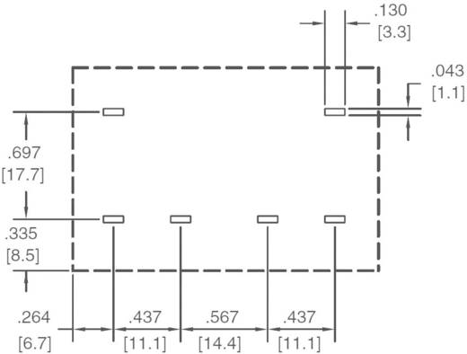 Printrelais 12 V/DC 30 A 2 Schließer Zettler Electronics AZ2704-2A-12DTWF 1 St.