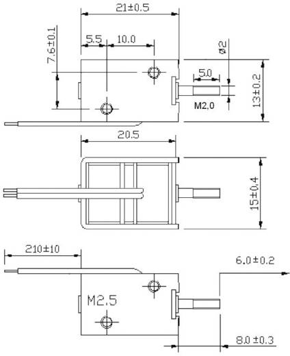 Hubmagnet drückend, ziehend 2 N 8 N 12 V/DC 35 W Tremba HMB-1513.001-12VDC
