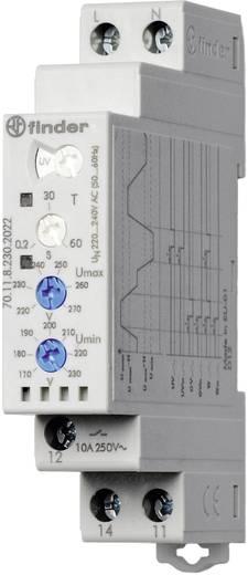 Überwachungsrelais 240 - 220 V/AC 1 Wechsler 1 St. Finder 70.11.8.230.2022 1-Phase, Überspannung, Über-/Unterspannungsbereich (Überspannung + Unterspannung), Spannugsfehler-Memory (wählbar)
